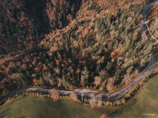Luftaufnahme Hulftegg-Pass